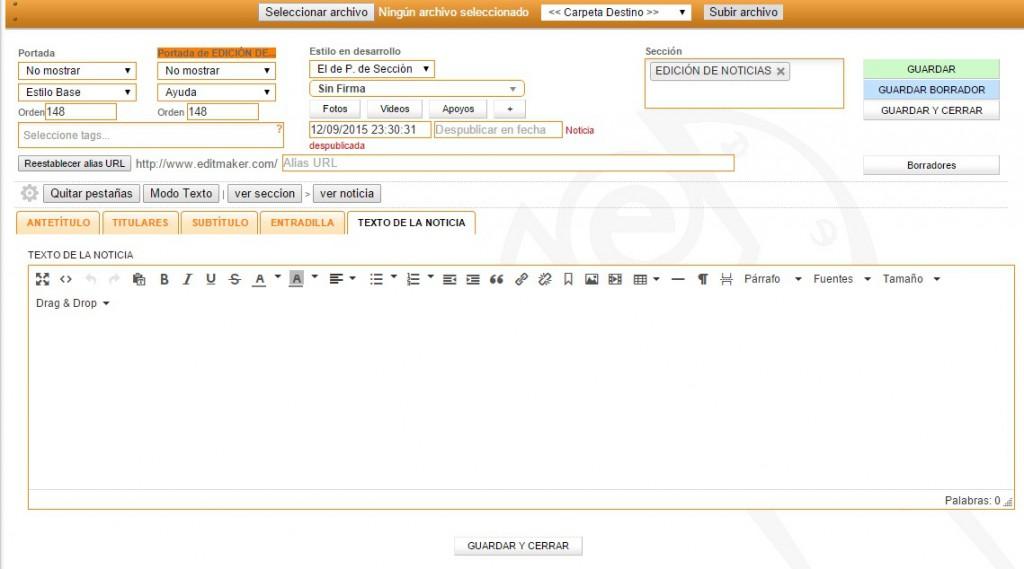 Estructura Del Editor Noticias Iii Editmaker Com